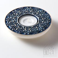 barokowy śr.10cm blue-gray