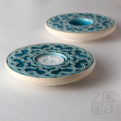 geometryczny śr.12,5cm turquoise