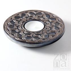 geometryczny śr.12,5cm złoto-liliowo-czarny