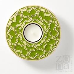 geometryczny śr.12,5cm spring green