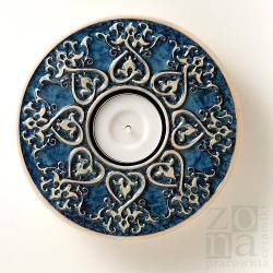 od serca śr.12,5cm blue-gray